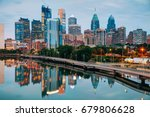 Philadelphia Skyline Night Schuylkill River - Fine Art prints