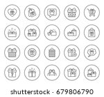 gifts line icons. set of... | Shutterstock .eps vector #679806790