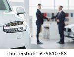 selective focus on a car... | Shutterstock . vector #679810783