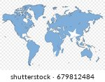 an outline of the world with... | Shutterstock .eps vector #679812484