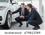 professional salesman and his... | Shutterstock . vector #679812589