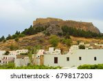 lindos   the old village in... | Shutterstock . vector #679817203