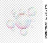transparent soap bubbles.... | Shutterstock .eps vector #679819198