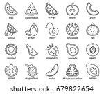 summer fruits collection. set... | Shutterstock .eps vector #679822654