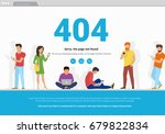 404 error page not found... | Shutterstock .eps vector #679822834