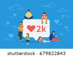 social media bubble with red... | Shutterstock .eps vector #679822843