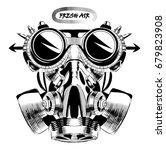 steampunk vintage design vector ... | Shutterstock .eps vector #679823908