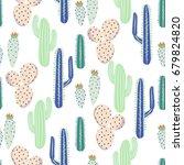 various cacti desert vector... | Shutterstock .eps vector #679824820