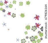 cute floral background for... | Shutterstock .eps vector #679826164