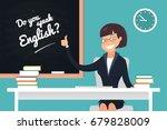 do you speak english concept. a ... | Shutterstock .eps vector #679828009