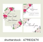 wedding floral template... | Shutterstock .eps vector #679832674