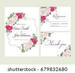 wedding floral template... | Shutterstock .eps vector #679832680
