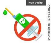 vector icon stop drugs