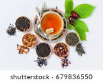tea  cup of tea  various kinds... | Shutterstock . vector #679836550