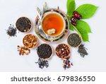 tea  cup of tea  various kinds... | Shutterstock . vector #679836550