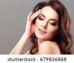 woman cosmetic closeup beauty... | Shutterstock . vector #679836868