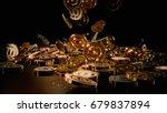 3d rendering of falling signs... | Shutterstock . vector #679837894