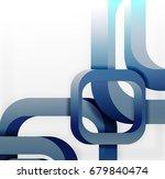 square vector background  3d...   Shutterstock .eps vector #679840474