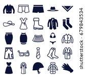 wear icons set. set of 25 wear...   Shutterstock .eps vector #679843534