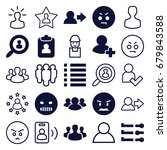 user icons set. set of 25 user... | Shutterstock .eps vector #679843588