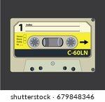 retro audio tape cassette. flat ... | Shutterstock .eps vector #679848346