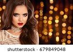 glamour fashion brunette girl... | Shutterstock . vector #679849048
