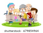 vector cartoon illustration of... | Shutterstock .eps vector #679854964