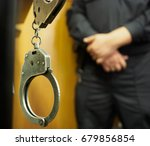 handcuffs and lattice cells for ... | Shutterstock . vector #679856854