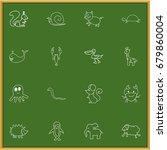 set of 16 editable animal...
