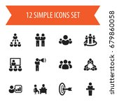 set of 12 editable cooperation...