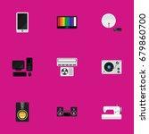 set of 9 editable technology...   Shutterstock .eps vector #679860700