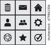 set of 9 editable web icons....