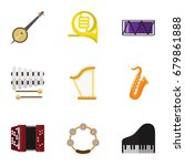 set of 9 editable mp3 flat...