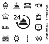 set of 12 editable hotel icons. ...
