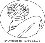 funny surfer in flat style....   Shutterstock .eps vector #679863178