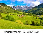 panorama val di funes italy | Shutterstock . vector #679864660