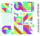 trendy geometrical vector... | Shutterstock .eps vector #679876180