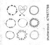 arrows  hearts  ornament  ... | Shutterstock .eps vector #679877788