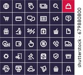 web icons set  line e commerce... | Shutterstock .eps vector #679880800
