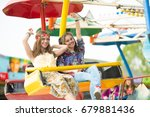 cheerful and excited teenage... | Shutterstock . vector #679881436