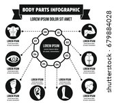 body parts infographic banner... | Shutterstock .eps vector #679884028