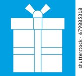 gift box with ribbon icon white ... | Shutterstock .eps vector #679885318
