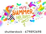 summer background with liquid... | Shutterstock .eps vector #679892698