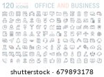 set of line icons in flat... | Shutterstock . vector #679893178