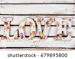 romantic love background with... | Shutterstock . vector #679895800