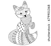 vector black and white doodle... | Shutterstock .eps vector #679901368