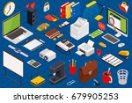 big set of isometric volumetric ... | Shutterstock .eps vector #679905253