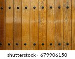 wooden panels with metal nits | Shutterstock . vector #679906150