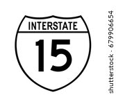 interstate highway 15 road sign ... | Shutterstock .eps vector #679906654