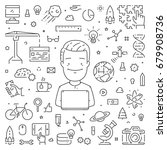 line concept for startup.... | Shutterstock . vector #679908736